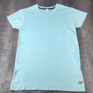New Balance ICE Aqua Blue Athletic Shirt NBICE
